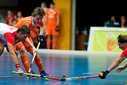 LEIZPIG - WC HOCKEY INDOOR 2015<br /> NED v POL (Pool B)<br /> Foto:Dutch Player<br /> FFU PRESS AGENCY COPYRIGHT FRANK UIJLENBROEK
