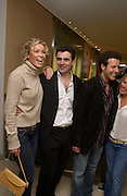 Nell McAndrew, Daniel Galvin salon opening party, George St. 14 May 2003. © Copyright Photograph by Dafydd Jones 66 Stockwell Park Rd. London SW9 0DA Tel 020 7733 0108 www.dafjones.com