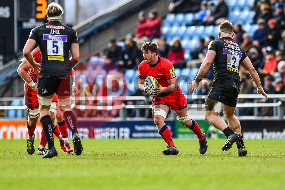 Sam Lewis of Worcester Warriors in action - Mandatory by-line: Craig Thomas/JMP - 10/02/2018 - RUGBY - Sandy Park Stadium - Exeter, England - Exeter Chiefs v Worcester Warriors - Aviva Premiership