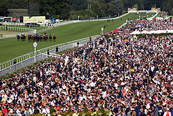Runners and riders during the Sandringham Stakes during day four of Royal Ascot at Ascot Racecourse.