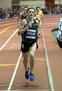 Feb 11, 2017; New York, NY, USA; Noah Affolder of Carlisle High (Pa.) wins the boys mile in 4:07.24 during the 110th Millrose Games at The Armory.