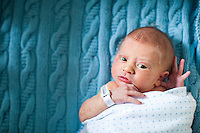 Image of an infant boy taken just after birth.