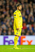 Jaume Costa (#11) of Villarreal CF during the Europa League group stage match between Rangers FC and Villareal CF at Ibrox, Glasgow, Scotland on 29 November 2018.