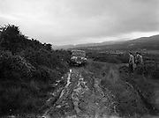 19/06/1958<br /> 06/19/1958<br /> 19 June 1958<br /> Austin Gipsy off road vehicle demonstration to the army at Kilmacanogue.