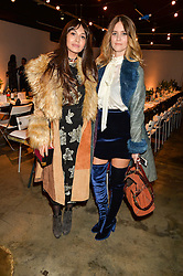 Left to right, ZARA MARTIN and WHINNIE WILLIAMS at the Smashbox Influencer Dinner hosted by Lauren Laverne held at Carousel, 71 Blandford Street, London on 21st January 2016.