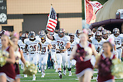 Frisco Heritage takes the field before kickoff against The Colony during a high school football game at Tommy Briggs Cougar Stadium in The Colony, Texas on September 11, 2015. (Cooper Neill/Special Contributor)
