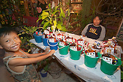 The notorious Full Moon Party at Hat Rin beach on the small Thai island of Ko Pha-Ngan is Asia's biggest regular rave event. Getting the drinks ready.
