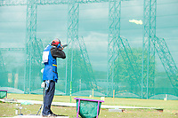 London, England, 21-04-12. Juan MORAGUES (ESP) competes in the ISSF World Cup Skeet competition, Royal Artillery Barracks, London. Part of the London Prepares Olympic preparations.