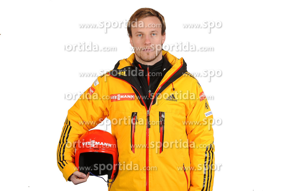 03.01.2014, Kunsteisbahn, Koenigssee, GER, BSD, Rennrodler Team Deutschland, Portrait, im Bild Tobias Arlt, (WSV Koenigssee) // during Luge athletes of team Germany, Portrait Shooting at the Kunsteisbahn in Koenigssee, Germany on 2014/01/04. EXPA Pictures © 2014, PhotoCredit: EXPA/ Eibner-Pressefoto/ Stuetzle<br /> <br /> *****ATTENTION - OUT of GER*****