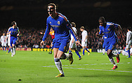 Picture by Alex Broadway/Focus Images Ltd +44 7905 628183.02/05/2013.Fernando Torres of Chelsea celebrates scoring his side's first goal against FC Basel during the UEFA Europa League match at Stamford Bridge, London.
