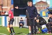 Macclesfield Town manager Mark Yates during the EFL Sky Bet League 2 match between Macclesfield Town and Forest Green Rovers at Moss Rose, Macclesfield, United Kingdom on 29 September 2018.