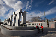 El pozo train station, memorial monument. Madrid, Spain.