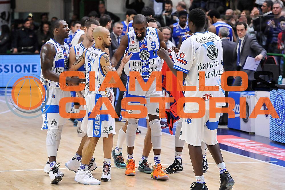 DESCRIZIONE : Campionato 2014/15 Serie A Beko Dinamo Banco di Sardegna Sassari - Acqua Vitasnella Cantu'<br /> GIOCATORE : Shane Lawal Team<br /> CATEGORIA : Ritratto Esultanza<br /> SQUADRA : Dinamo Banco di Sardegna Sassari<br /> EVENTO : LegaBasket Serie A Beko 2014/2015<br /> GARA : Dinamo Banco di Sardegna Sassari - Acqua Vitasnella Cantu'<br /> DATA : 28/02/2015<br /> SPORT : Pallacanestro <br /> AUTORE : Agenzia Ciamillo-Castoria/L.Canu<br /> Galleria : LegaBasket Serie A Beko 2014/2015