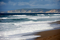 Waves pound the beach at Point Reyes Beach North, ,  Point Reyes National Seashore, California, USA