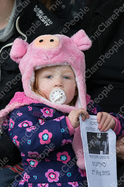 Ellie Mathews from Miltown Malbay at the Kilmihil Festival of Fun Pig Racing 2015