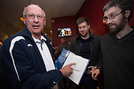 Showing off the champions' autographs - Dundee FC night of champions at the Whitehall Theatre, Dundee, Photo: David Young<br /> <br />  - &copy; David Young - www.davidyoungphoto.co.uk - email: davidyoungphoto@gmail.com