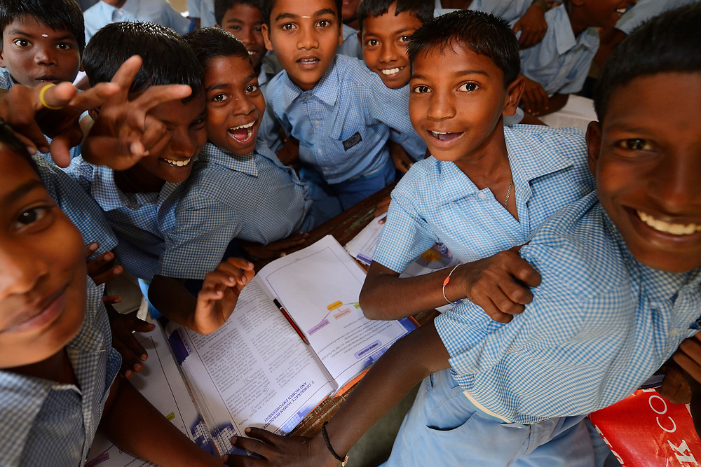 Kids at CRINEO school, Pulicat Lake, Tamil Nadu, India