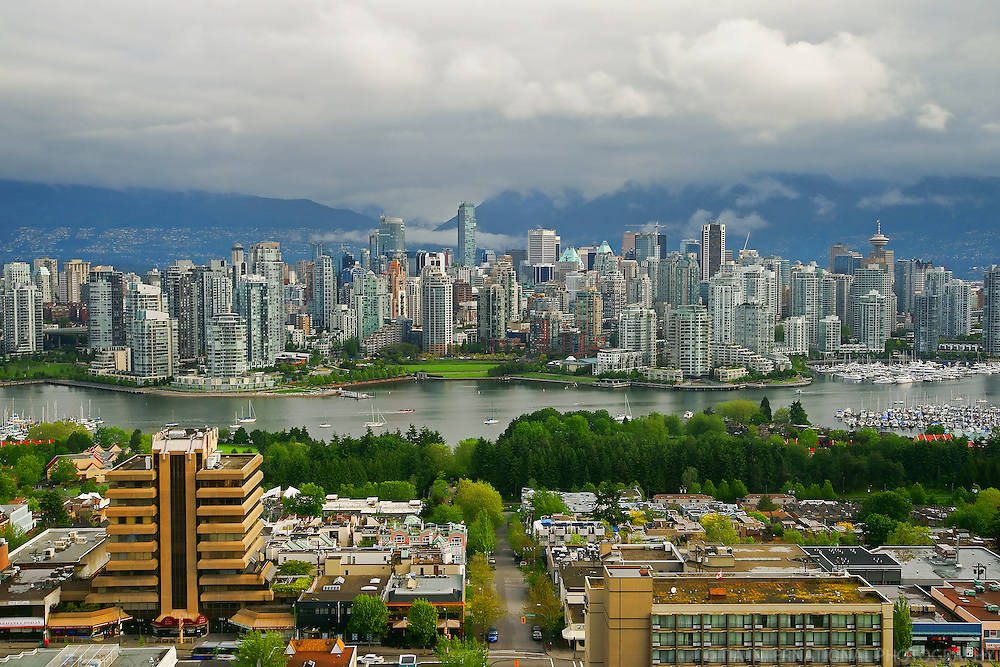 Vancouver Skyline, False Creek & Overcast (Overcast)