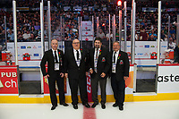 REGINA, SK - MAY 27: Off-Ice officials at the Brandt Centre on May 27, 2018 in Regina, Canada. (Photo by Marissa Baecker/CHL Images)