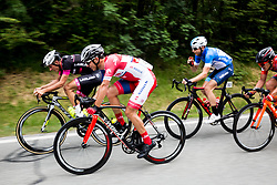 Ziga Jerman (SLO) of Rog - Ljubljana, Jon Bozic (SLO) of KK Adria Mobil, Primoz Obal (SLO) of Slovenija National Team during Stage 1 of 24th Tour of Slovenia 2017 / Tour de Slovenie from Koper to Kocevje (159,4 km) cycling race on June 15, 2017 in Slovenia. Photo by Vid Ponikvar / Sportida