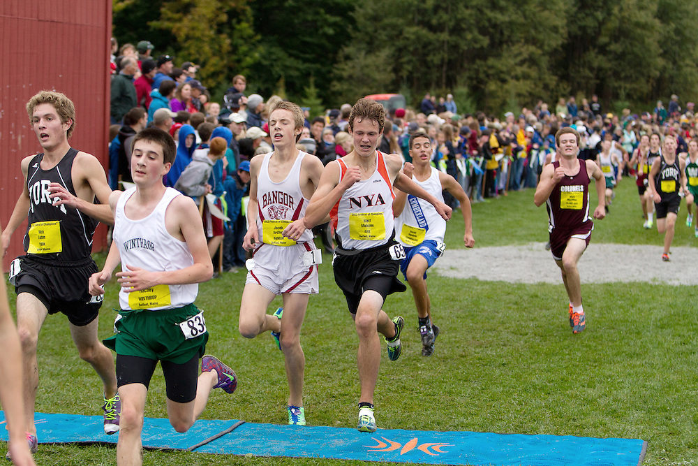 Festival of Champions High School Cross Country meet, Heaton, York, Hachey, Winthrop, Archer, Bangor, Malcom, NYA