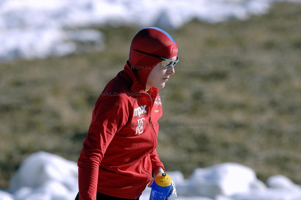 14-01-2007 SCHAATSEN: EUROPESE KAMPIOENSCHAPPEN: COLLALBO ITALIE<br /> Maren Haugli NOR<br /> &copy;2007-WWW.FOTOHOOGENDOORN.NL