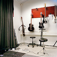 Halden Prison, Norway, June 2014:<br /> In the studio &quot;Criminal Records&quot; where prisoners have access to a wide range of musical instruments and high tech recording facilities.<br /> -- No commercial use --<br /> Photo: Knut Egil Wang/Moment/INSTITUTE