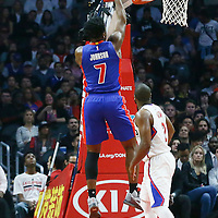 07 November 2016: Detroit Pistons forward Stanley Johnson (7) takes a jump shot during the LA Clippers 114-82 victory over the Detroit Pistons, at the Staples Center, Los Angeles, California, USA.