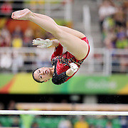 Gymnastics - Olympics: Day 2  Kim Bui #344 of Germany in action on the Women's Uneven Bars during the Artistic Gymnastics Women's Qualification round at the Rio Olympic Arena on August 7, 2016 in Rio de Janeiro, Brazil. (Photo by Tim Clayton/Corbis via Getty Images)