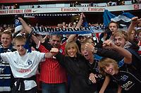 Photo: Tony Oudot/Richard Lane Photography.  Juventus v SV Hamburg. Emirates Cup. 03/08/2008. <br /> Hamburg fans celebrate their teams victory winning the Emirates Cup