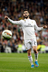 01.03.2015, Estadio Santiago Bernabeu, Madrid, ESP, Primera Division, Real Madrid vs FC Villarreal, 25. Runde, im Bild Isco of Real Madrid // during the Spanish Primera Division 25th round match between Real Madrid CF and Villarreal at the Estadio Santiago Bernabeu in Madrid, Spain on 2015/03/01. EXPA Pictures &copy; 2015, PhotoCredit: EXPA/ Alterphotos/ Caro Marin<br /> <br /> *****ATTENTION - OUT of ESP, SUI*****