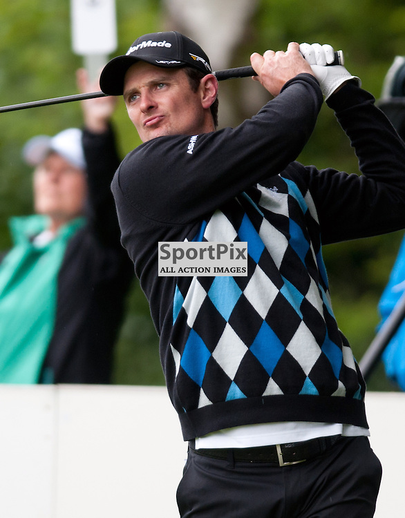 Thursday 23rd May 2013, BMW PGA Championships, Wentworth Club, Surrey, Justin Rose at the tee