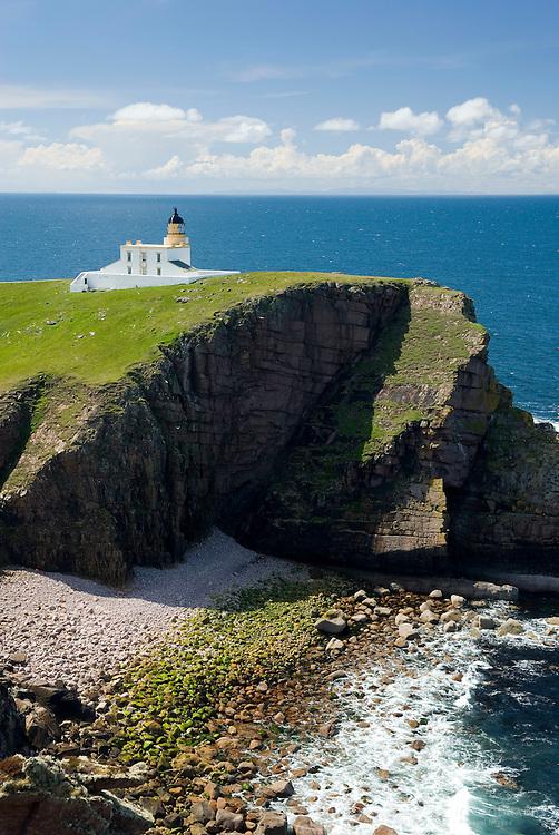 Rhu Stoer Lighthouse at Point of Stoer, Assynt-Coigach Scenic Area Scotland Scotland