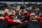 Codie Taylor of the Crusaders warms up during the Super Rugby Final, Crusaders V Lions, AMI Stadium, Christchurch, New Zealand, 4th August 2018.Copyright photo: John Davidson / www.photosport.nz