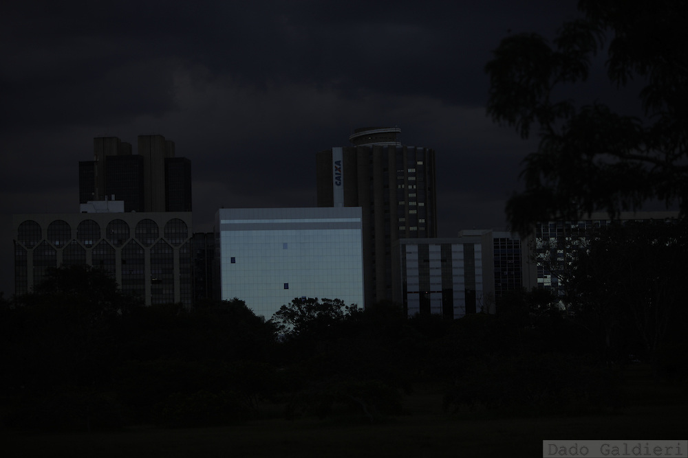 A storm approaches the sector of state companies in Brasilia, Brazil, Wednesday, Feb. 8, 2012.(Photo Dado Galdieri)