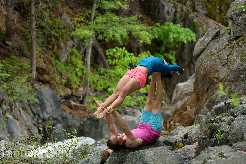 Cyrus and Keisha aero yoga by Yuba River