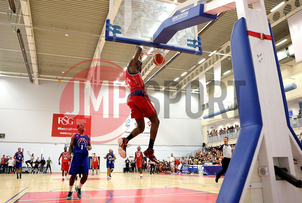 Brandon Boggs of Bristol Flyers slam dunks two points - Mandatory by-line: Robbie Stephenson/JMP - 08/09/2016 - BASKETBALL - SGS Arena - Bristol, England - Bristol Flyers v USA Select - Preseason Friendly