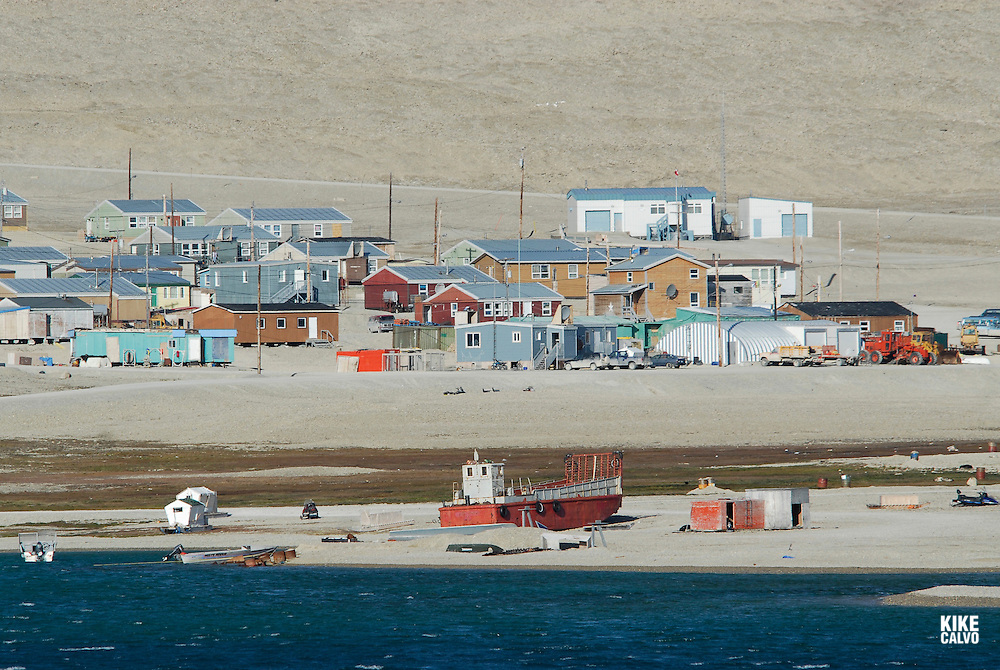 Inuit community of Resolute Bay. Cornwallis Island. Parry Channel at the Lancaster Sound. Canada.