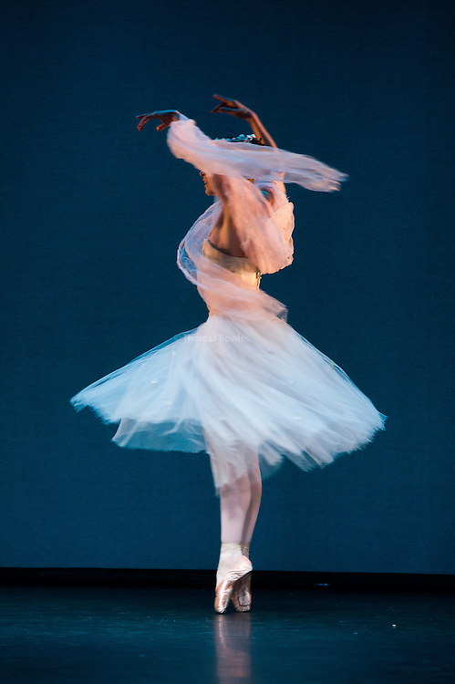 London, UK. 9th January 2015. The Royal Danish Ballet Soloists and Principals perform  works by the 19th century Choreographer and ballet master August Bournonville. <br /> Gudrun Bojesen as the Sylph