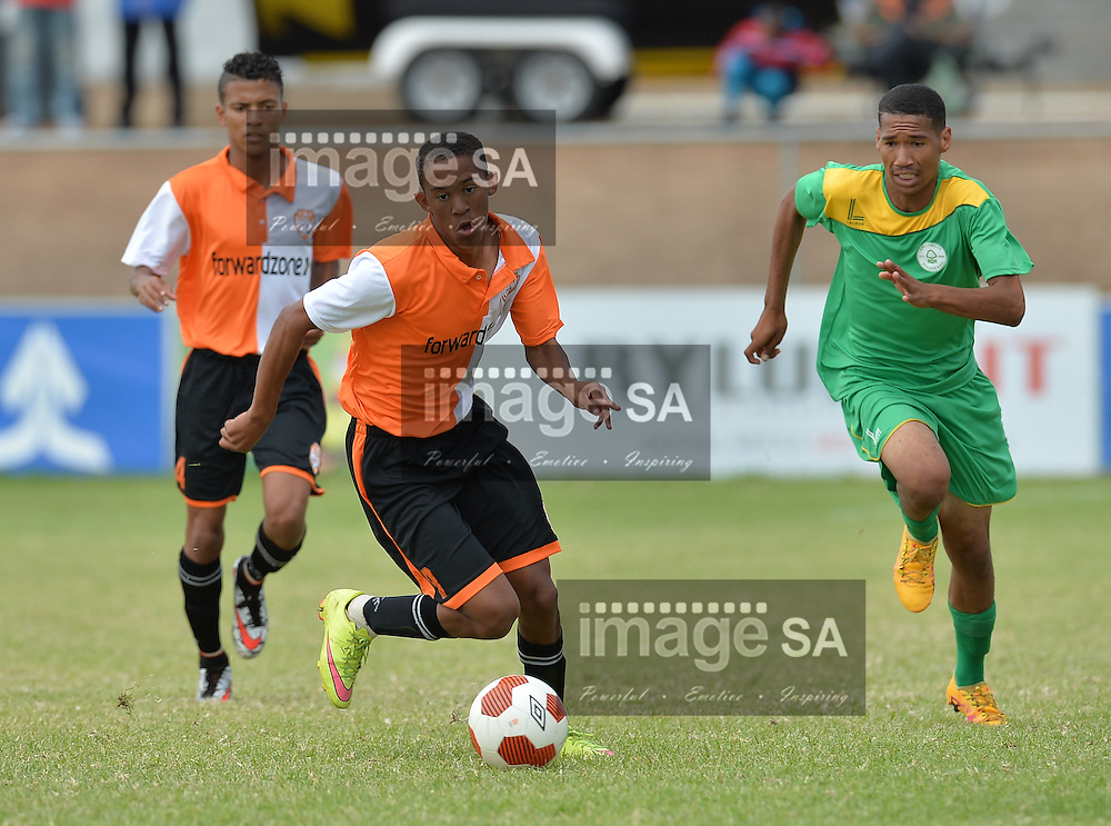 CAPE TOWN, SOUTH AFRICA - Monday 28 March 2016, Charlton van Dyck of MPCE during the plate final match between MPCE Football Academy and Greenwood Athletic during the final day of the Metropolitan U19 Premier Cup at Erica Park in Belhar. <br /> Photo by Roger Sedres/ImageSA