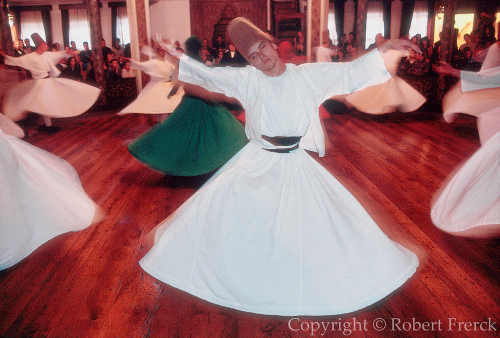 TURKEY, ISTANBUL, OTTOMAN Ceremony of 'Whirling Dervishes'