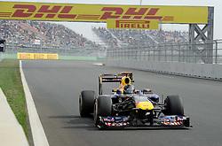 15.10.2011, Korea-International-Circuit, Yeongam, KOR, F1, Großer Preis von Südkorea, Yeongam, im Bild DHL Branding - Sebastian Vettel (GER), Red Bull Racing // during the Formula One Championships 2011 Large price of Korea held at the Korea-International-Circuit, 2011-10-15  EXPA Pictures © 2011, PhotoCredit: EXPA/ nph/  Dieter Mathis        ****** only for AUT, POL & SLO ******