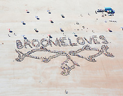 Hundreds of people joined hands on Broome's Cable Beach on Sunday 29th July 2013 to celebrate the arrival of the Kimberley's Humpback whale population.