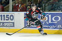 KELOWNA, CANADA, NOVEMBER 25: Tanner Moar #23 of the Kelowna Rockets skates on the ice as the Kootenay Ice visit the Kelowna Rockets  on November 25, 2011 at Prospera Place in Kelowna, British Columbia, Canada (Photo by Marissa Baecker/Shoot the Breeze) *** Local Caption *** Tanner Moar