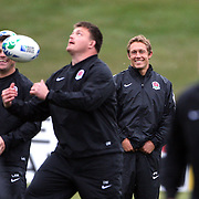 Jonny Wilkinson (centre, right) during the English Rugby team training session at the Queenstown Events Centre in preparation for their match with Georgia during the IRB Rugby World Cup tournament.   Queenstown, New Zealand, 14th September 2011. Photo Tim Clayton...