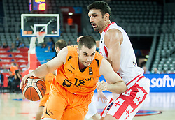 05-09-2015 CRO: FIBA Europe Eurobasket 2015 Georgie - Nederland, Zagreb<br /> Nicolas de Jong of Netherlands vs Zaza Pachulia of Georgia during basketball match between Georgia and Netherlands at Day 1 in Group C of FIBA Europe Eurobasket 2015, on September 5, 2015, in Arena Zagreb, Croatia. Photo by Vid Ponikvar / RHF