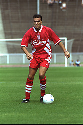 BERLIN, GERMANY - Sunday, August 7, 1994: Liverpool's Neil Ruddock during a preseason friendly between Hertha BSC Berlin and Liverpool FC at the Olympiastadion. Liverpool won 3-0. (Pic by David Rawcliffe/Propaganda)