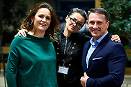 Warsaw, Poland - 2017 April 07: (L-R) Monika Holdak - advertising strategist, trend analyst and Malgorzata Gurdziel and  Tomasz Boruc - World Champion in Kyokushin Karate and Health Manager pose for images during The Day of Health - science conference in the National Library on April 07, 2017 in Warsaw, Poland.<br /> <br /> Mandatory credit:<br /> Photo by © © Adam Nurkiewicz / Mediasport / Mediasport<br /> <br /> Picture also available in RAW (NEF) or TIFF format on special request.<br /> <br /> Any editorial, commercial or promotional use requires written permission from the author of image.<br /> <br /> Adam Nurkiewicz declares that he has no rights to the image of people at the photographs of his authorship.