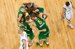 Players of  Lithuania during friendly match before Eurobasket Lithuania 2011 between National teams of Slovenia and Lithuania, on August 24, 2011, in Arena Stozice, Ljubljana, Slovenia. (Photo by Vid Ponikvar / Sportida)