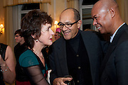 CHARLOTTE FRASER; BRUCE OLDFIELD; MICHAEL ROBERTS, Kate Reardon and Michael Roberts host a party to celebrate the launch of Vanity Fair on Couture. The Ballroom, Moet Hennessy, 13 Grosvenor Crescent. London. 27 October 2010. -DO NOT ARCHIVE-© Copyright Photograph by Dafydd Jones. 248 Clapham Rd. London SW9 0PZ. Tel 0207 820 0771. www.dafjones.com.